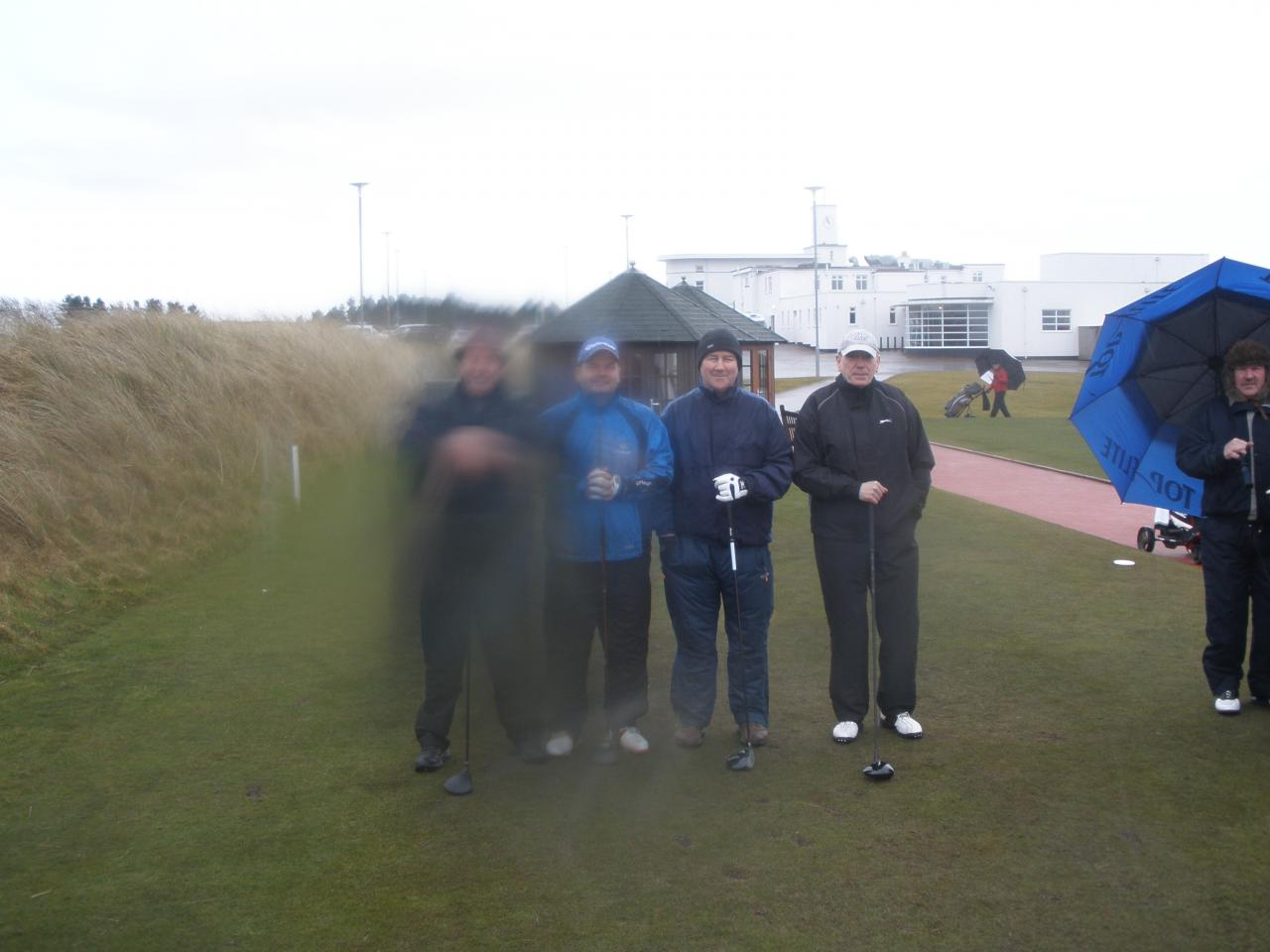 On the 1st tee at Royal Birkdale