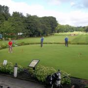 1st group get some putting practice in